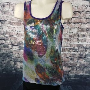 Cato Prism Sequin Tank Top, Large